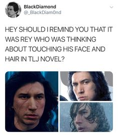 Star Wars Love, Rey Star Wars, Reylo Fanart, Solo Ads, Star Wars Facts, Fangirl Problems, Rhyme And Reason, The Force Is Strong, Adam Driver