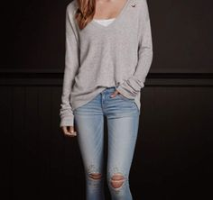 <3in this winter/fall outfit from hollister<3<3