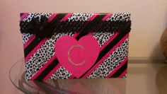 Cutest Valentine box....made from a cereal box!! I also added a handle to make it look like a purse!