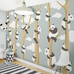 Little Hands Wallpaper Mural - The wallpaper can be ordered in various sizes. We are like tailors, the wallpaper will fit perfectly on your wall, you just have to give us the measures you need Bedroom Themes, Bedroom Decor, Nursery Decor, Little Hands Wallpaper, Blue Ceilings, Floral Pillows, Baby Decor, Decoration, Kids Room