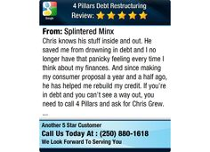 Chris knows his stuff inside and out. He saved me from drowning in debt and I no longer...