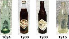 Evolution of Coca-Cola bottles