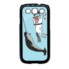Unicorn Swimming With Narwal 2 Samsung Galaxy S3 Case