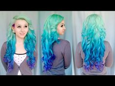 ▶ DIY MERMAID OMBRE HAIR On Sarah Sorceress - Tutorial By Cira Las Vegas