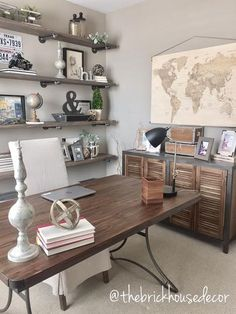 triple seated home office area. Shelving Stain-Varathane\u0027s Briarsmoke- My Absolute Favorite! World Market Furniture, Home Office Triple Seated Area E