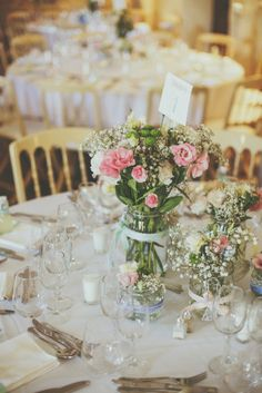 4 Rustic Country Wedding Ideas For Unique Weddings Tall Wedding Centerpieces, Flower Centerpieces, Wedding Decorations, Tall Centerpiece, Floral Wedding, Wedding Flowers, Wedding White, Wedding Venues, Wedding Day
