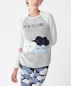 Camiseta polar nubes - Ver Todo - PIJAMAS   Oysho