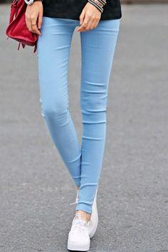 Whole Color Skinny Pants OASAP.com $23.12