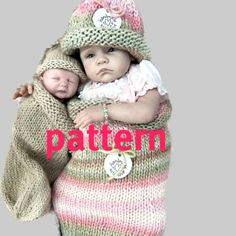 KNITTING PATTERN Reborn Doll Cocoon and Hat, Sell What You Make. via Etsy.