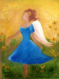 Mom's Angel. Zoe Kelly-Soldner. Oil on canvas.