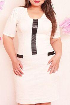 Fashion cream anf black dress