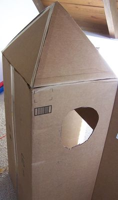 When I told my kids we were going to turn a cardboard box into a rocket, they were very excited. And they were also a little disappointed when I explained to th