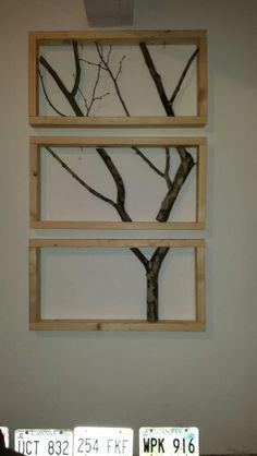 Tree branch framed