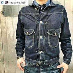 "170 Likes, 7 Comments - CULTIZM (@cultizm) on Instagram: ""#Repost @radiance_hsin ・・・ Rising Sun & Co., Cattleman jacket. @risingsunjeans #RadianceBlue…"""