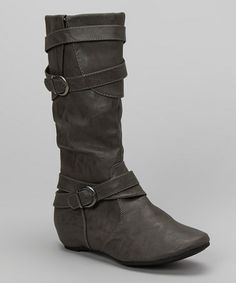 Take a look at this Gray Pacific Boot by Chase & Chloe on #zulily today!