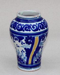 Antique Mexican Talavera Uriarte Studio Majolica Faience Pottery Jar Vase #MexicanTalavera