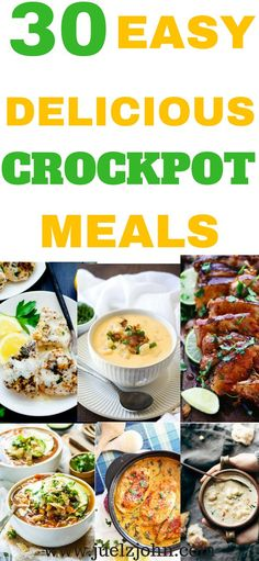 Quick easy crock pot meals you will love and they are budget-friendly.Healthy and super delicious crockpot recipes perfect for dinner. Vegetarian Crockpot Recipes, Slow Cooker Recipes, Healthy Dinner Recipes, Pasta Recipes, Beef Recipes, Cooking Recipes, Cheap Recipes, Crockpot Meals, Quick Recipes