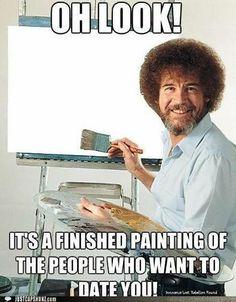 Artist Humor: Bob Ross Meme