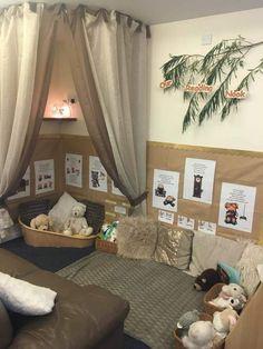 Reading area – to ndc Preschool Classroom Decor, Eyfs Classroom, Preschool Rooms, Nursery Activities, Toddler Classroom, Classroom Design, Preschool Reading Area, Preschool Room Layout, Reggio Emilia Classroom