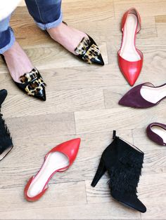 Printed, leather, suede, fringe, flats, booties... how is a girl to choose one pair of shoes? | Banana Republic