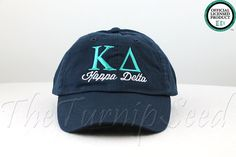 Kappa Delta Sorority Baseball Cap  Custom Color by TheTurnipSeed, $12.00