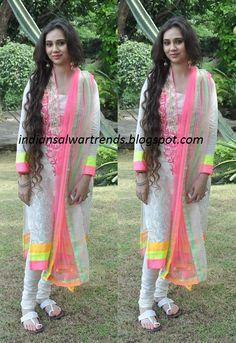 Punjabi Suit. Latest Salwar and Designer Dresses: Designer white full sleeve salwar kameez