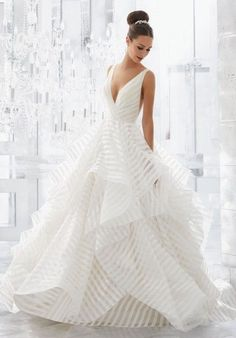 Wonderful Perfect Wedding Dress For The Bride Ideas. Ineffable Perfect Wedding Dress For The Bride Ideas. Wedding Dress Organza, Bridal Wedding Dresses, Dream Wedding Dresses, Bridesmaid Dresses, Prom Dresses, Striped Wedding Dresses, Hayley Paige Wedding Dresses, Wedding Bride, Lace Wedding