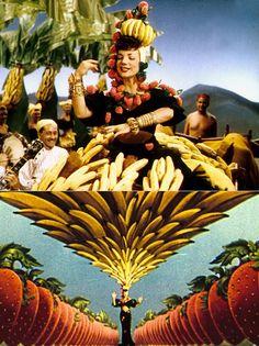 Carmen Miranda- loved the documentary, Beneath the Titti Fruitti Hat- Carmen Miranda, Tropical Style, Tropical Vibes, Classic Hollywood, Old Hollywood, Kitsch, Brazilian Samba, Banana Art, Cool Cats