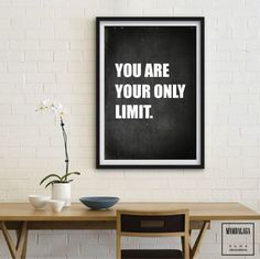 A3 plakat_you are your only limit. - MAMBALAGA - Plakaty typograficzne