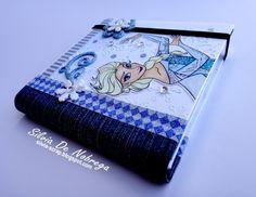 Silvia Scrap: Carpetas para llevar marcadores y libreta.... tema Frozen y Rapunzel :)