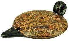 Sadigh Gallerys Ancient Greek Terracotta Oil Lamp Mycenaean period,1425-1300 BC  ???