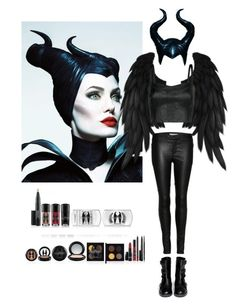 """Maleficent Outfit"" by sedaergz ❤ liked on Polyvore featuring MANGO, Alexander McQueen and J Brand"