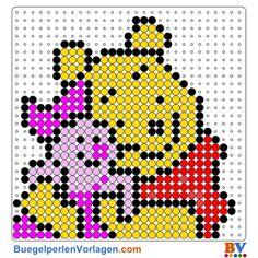 Winnie Pooh Bügelperlen Vorlage. Auf buegelperlenvorlagen.com kannst du eine große Auswahl an Bügelperlen Vorlagen in PDF Format kostenlos herunterladen und ausdrucken.
