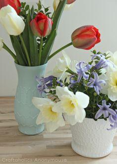 Рельефные вазы (Diy)