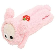 Rilakkuma bear bunny costume pink plush pencil case kawaii san-x UK SELLER