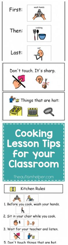 Tips for preparation & visuals for your in-class cooking lessons to help them run as smoothly as possible! From theautismhelper.com