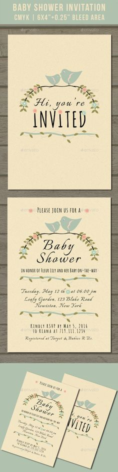 Baby Shower Invitation Template PSD. Download here: http://graphicriver.net/item/baby-shower-invitation/16131660?ref=ksioks