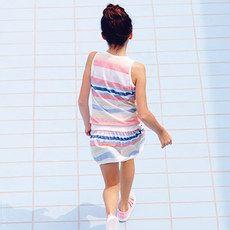Lacoste - Striped cotton jersey dress - 117862