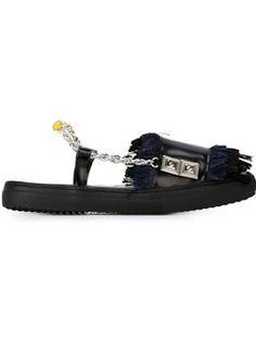 TOGA fringed slingback sandals