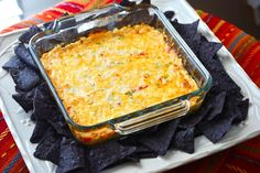 Baked Southwest Cheese Dip.  Nothing like a warm dip for some tortilla chips