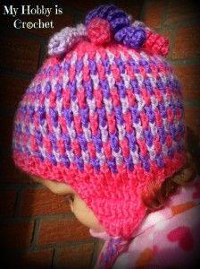 Gum drop hat, Crochet Earflap Hat Gum Drops |