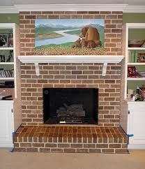 Faux Painted Brick Fireplace | very very difficult to get the ...