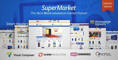 Download and review of SuperMarket - Multipurpose WooCommerce WordPress Theme, one of the best Themeforest eCommerces themes
