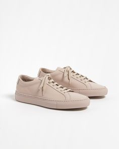 Woman by Common Projects Pink & White Suede Original Achilles Low Sneakers GZ3porg