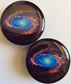 Galaxy Acrylic Plugs (Available in Sizes 6mm-24mm)