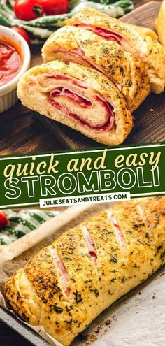 Get ready for a fun twist on pizza! Once you try this quick and easy recipe for Stromboli, the entire family will request it again and again for dinner. Filled with ham, pepperoni, and cheese, this kid-friendly weeknight meal dunked in marinara sauce is always a hit!