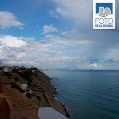 #ArcoIris desde nuestro pueblo Emoticono grin #Rainbow from our village