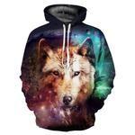Hoodie 3D Sweatshirts Print Wolf Tracksuits Tops Hooded Hoodies