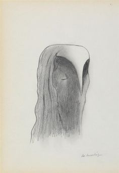 Gino De Dominicis - Untitled, pencil on paper