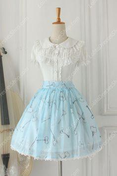 Alice Sweet Tale Vintage Knot organza Lolita Skirt